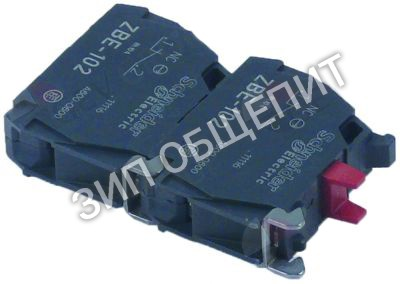 Блок контактный Dihr, 2NC, кодирование цвета, красн. для GS-100 / AX151 / AX151-1080725-Olis / AX151-1080727-Olis / AX151-Olis